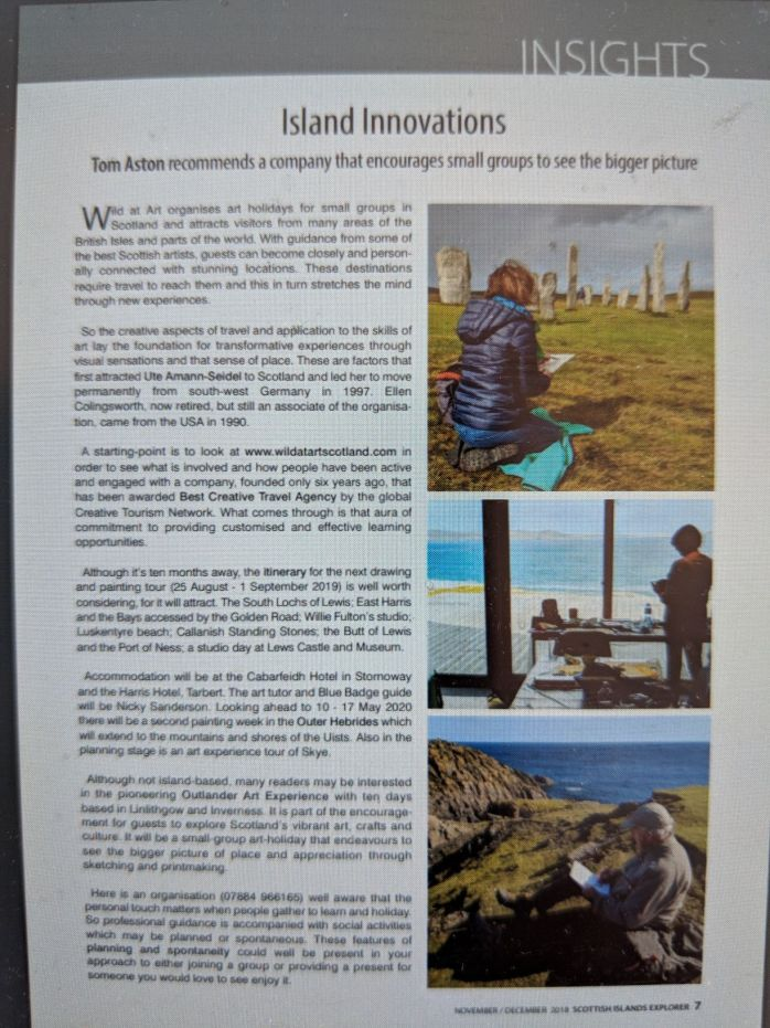 scottish islands explorer article