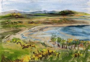 Bay in Bute, Scotland, by Karen Strang, plein air
