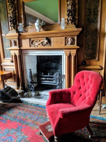 red chair at hospitalfield