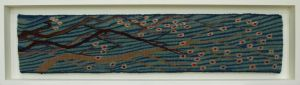 Blossom, handwoven tapestry by Scottish weaver/ tapestry artist Louise Oppenheimer