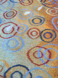 Measuring Time, handwoven tapestry by Scottish weaver/ tapestry artist Louise Oppenheimer