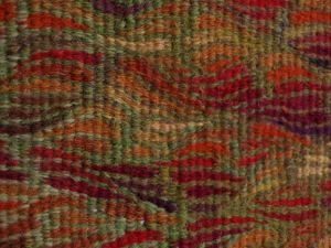 Turn of the Bracken, handwoven tapestry by Scottish weaver/ tapestry artist Louise Oppenheimer