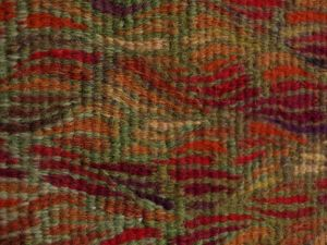 Turn of the Bracken, handwoven tapestry by Scottish weaver/ tapestry artist Louise Oppenheimer