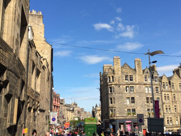 Edinburgh looking down Royal Mile
