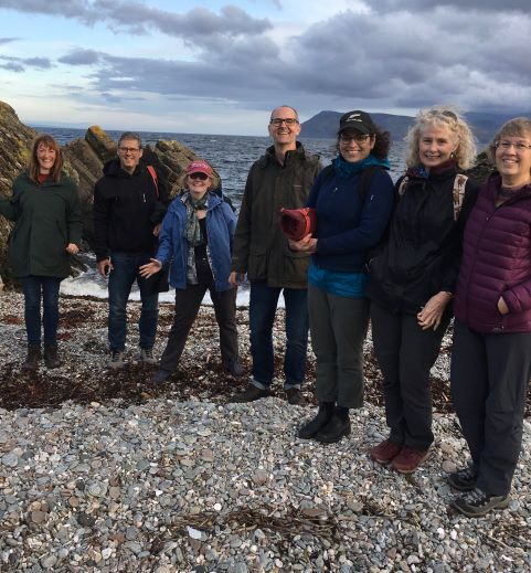 Painting group in Kintyre