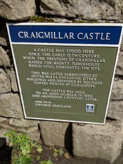 Craigmillar Castle sign