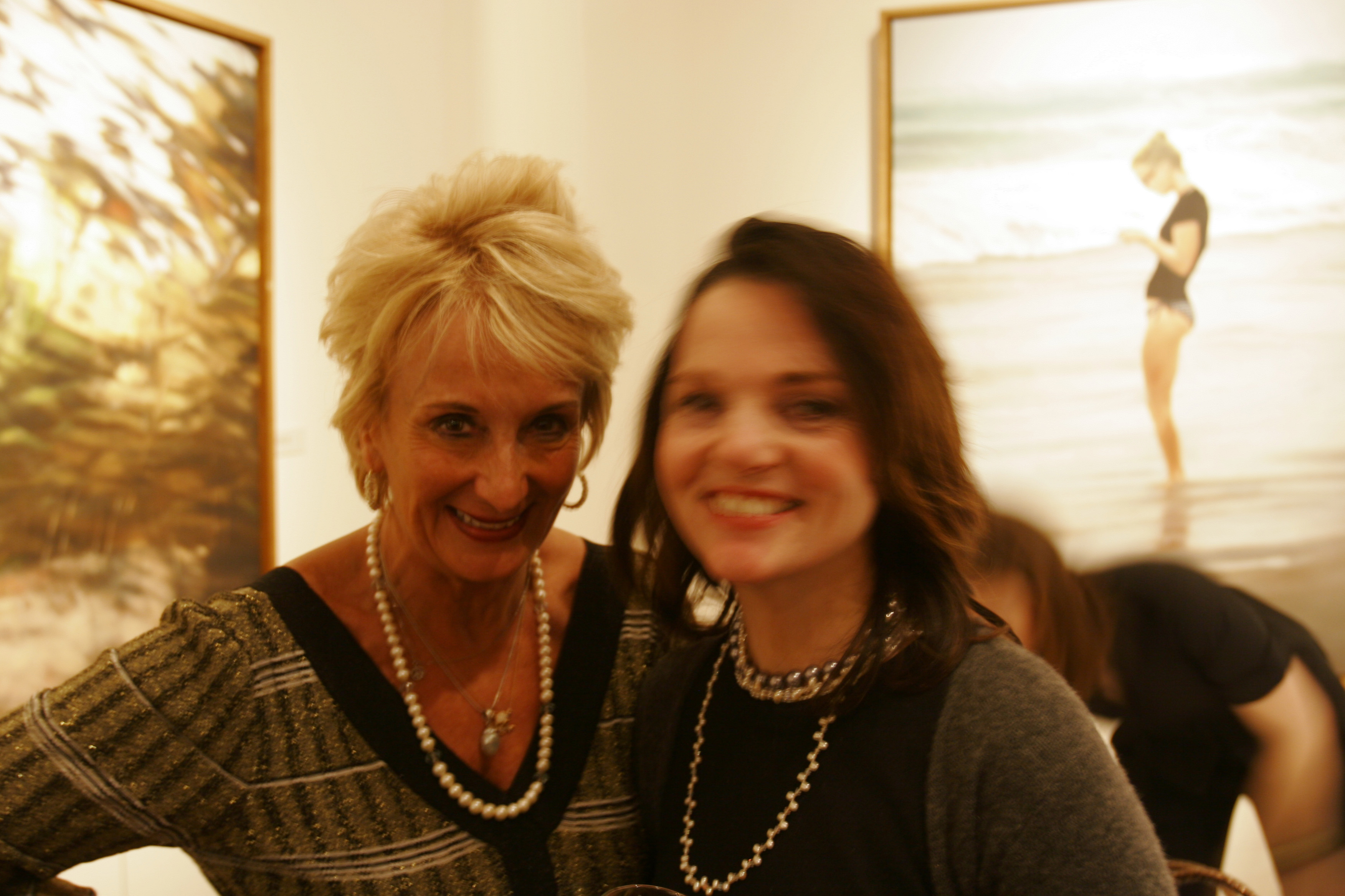 Bang Bang Artist Eileen Hickey-Hulme and American Yogini Mary McGuire-Wien at Spanierman-Modern