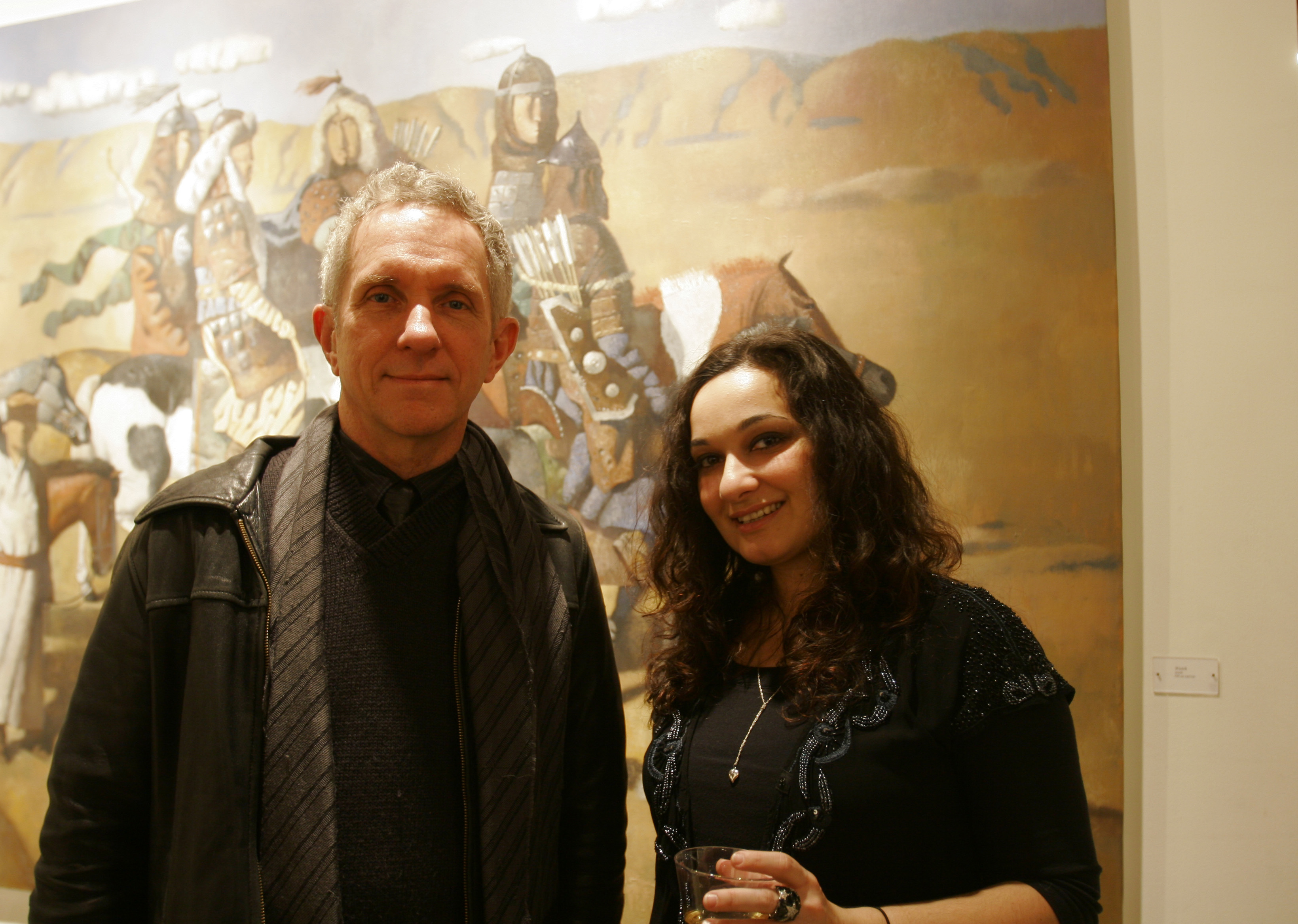 Wildbank at Tibet House gallery with one of Dorzhiev's representatives from Moscow