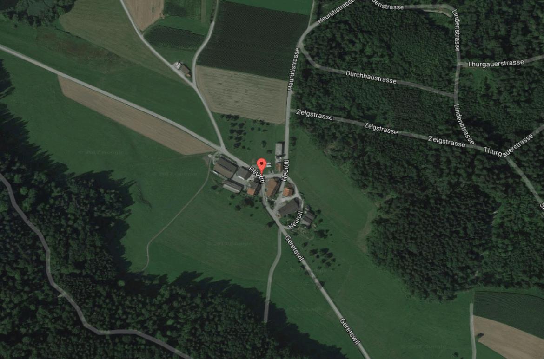 Hof von Landwirt und Jäger Jonas Küpfer in Elgg