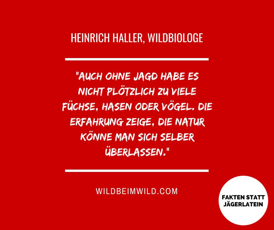 Heinrich Haller Wildbiologe