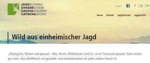 Jagd Schweiz Wildbret