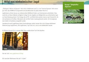 Jagd Schweiz Wildfleisch