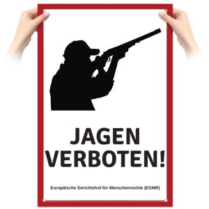 Schild Jagen verboten