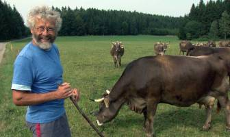 Bauer und Tiere
