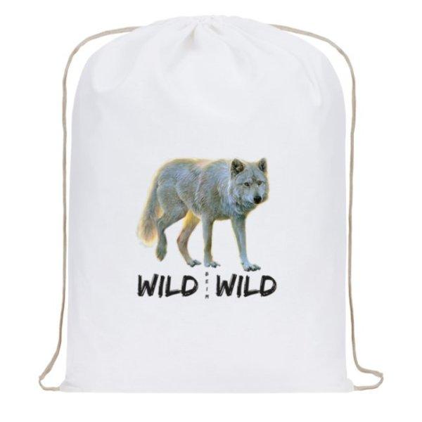 Wild beim Wild Baumwoll-Rucksack mit Zugband