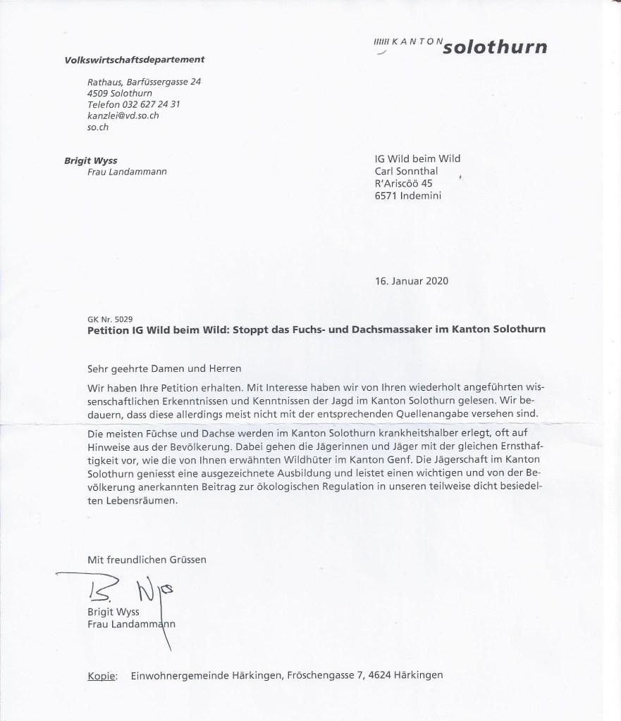 Birgit Wyss https://wildbeimwild.com/online-proteste/stoppt-das-fuchs-und-dachsmassaker-im-kanton-solothurn/