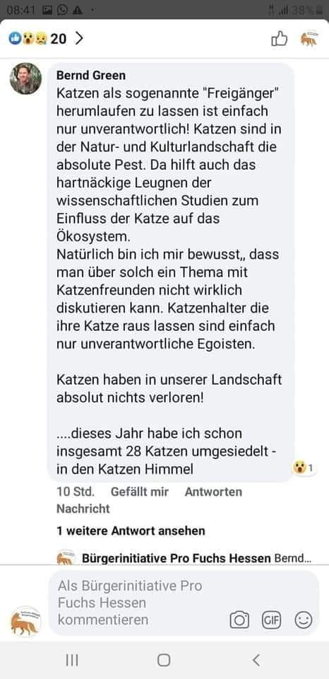Bernd Green: Hobby-Jäger schiesst Haustiere in Katzenhimmel