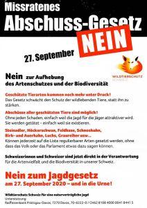 Jagdgesetz Nein am 27.9.2020