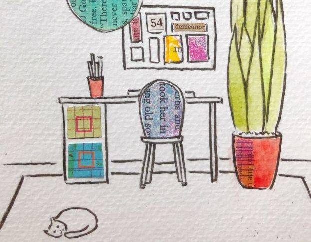 Desk Design Mixed Media