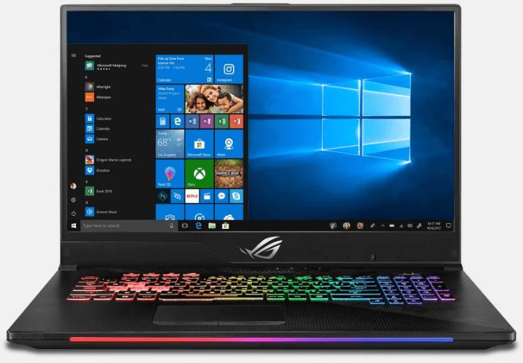Asus gaming laptops, ROG Strix SCAR II GL704GM