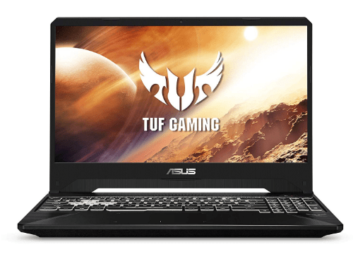 Main view of the Asus TUF Gaming Laptop FX505
