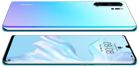 Front and Back View, latest Huawei smartphones, the Crystal Huawei P30 Pro