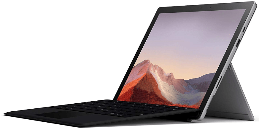 top rated tablets, Microsoft Surface Pro 7 with keyboard