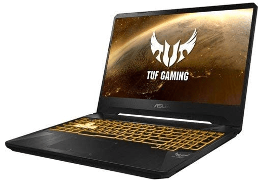 Side view of the Asus TUF Gaming Laptop FX505