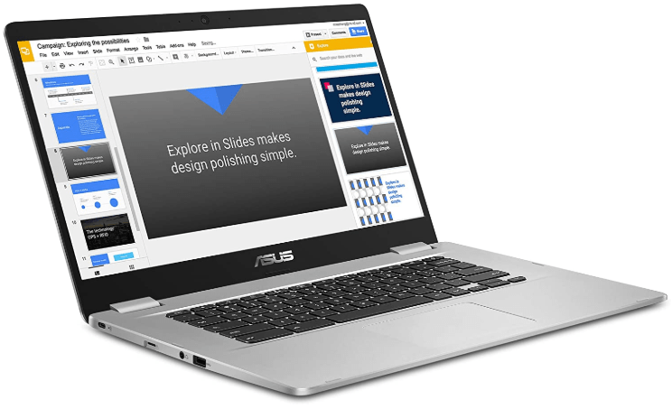 Asus Chromebook C523 as one of the best Chromebooks for students