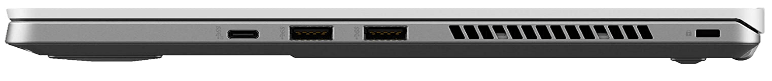 Asus Zephyrus G14 Review of the side input ports view.
