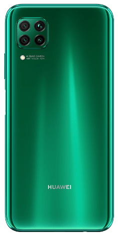 The emerald green P40 Lite, Huawei P40 phone