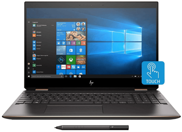 Main view of the 2020 hp spectre x360 15