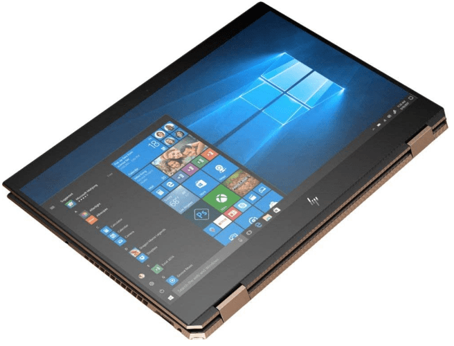 Tablet mode of the 2020 hp spectre x360 15
