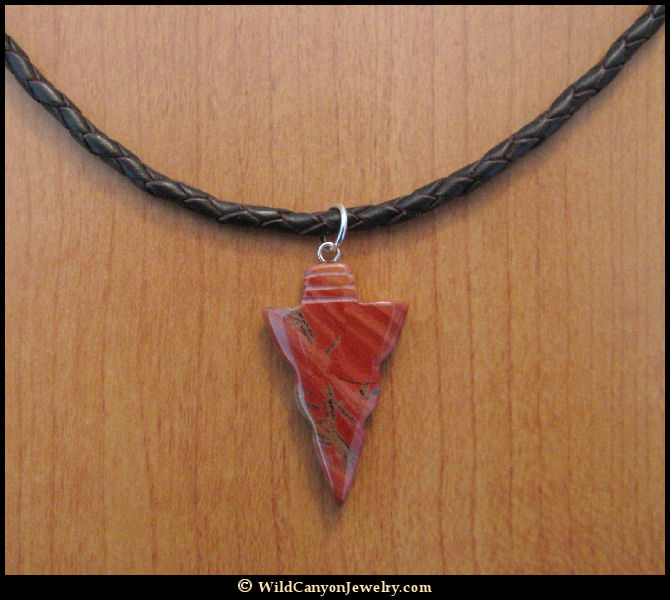 Red jasper arrowhead pendant necklace wildcanyonjewelry red jasper arrowhead pendant necklace aloadofball Image collections