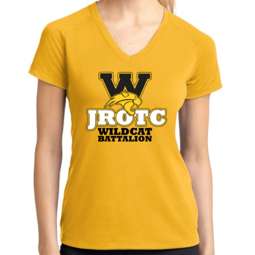 Ladies V-Neck Gold