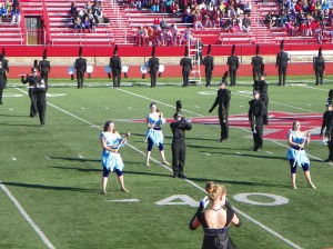 The marching band performed at Pike in Indianapolis this past saturday