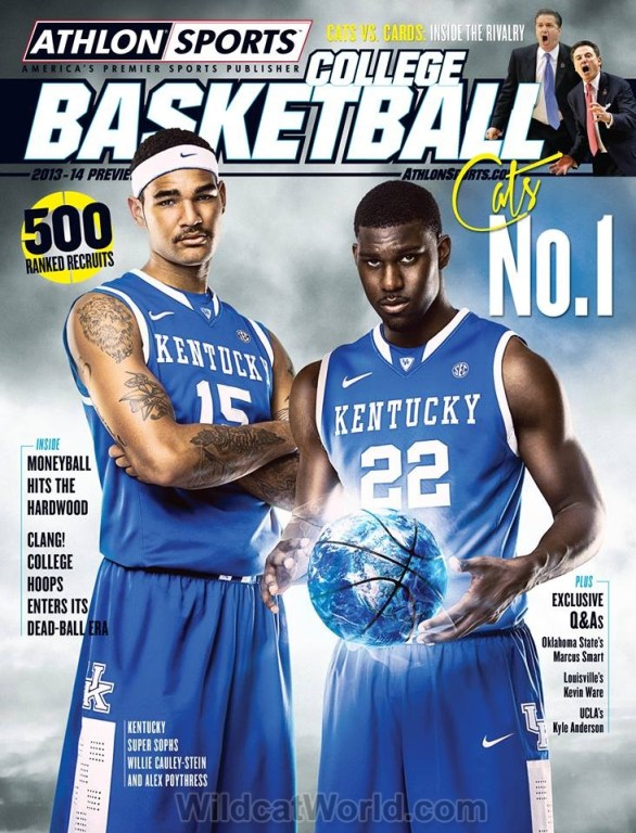 Willie Cauley-Stein and Alex Pothress on the cover of Athlon
