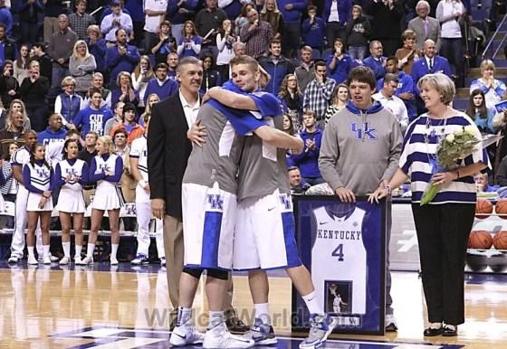 Jon Hood and Jarrod Polson Embrace - photo by Bo Morris