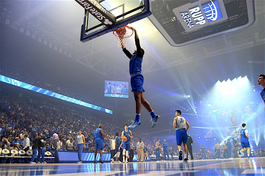 "Of all the words used to describe Kentucky freshman Malik Monk, the most accurate is likely, ""scorer."" (photo by Chris Reynolds)"