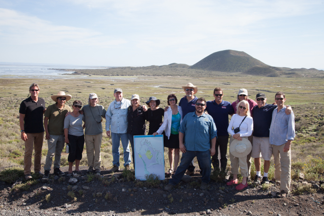 Our group in San Quintin. Thanks to Terra Peninsular, much of this amazing and world class wetland has been preserved. Photo courtesy of Alan Harper/Terra Peninsular.