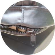 Cover with YKK Zippers