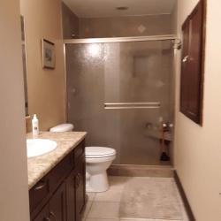 Coastal Hideaway: Main Floor Bathroom