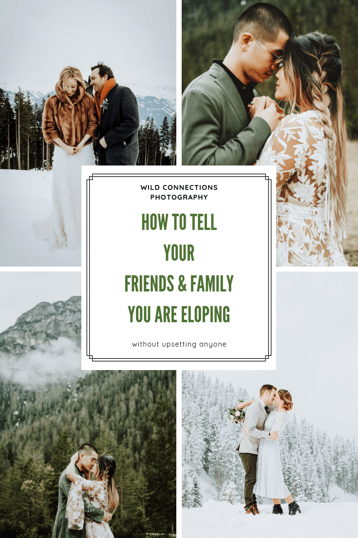 how to tell your friends and family you are eloping pinterest graphic