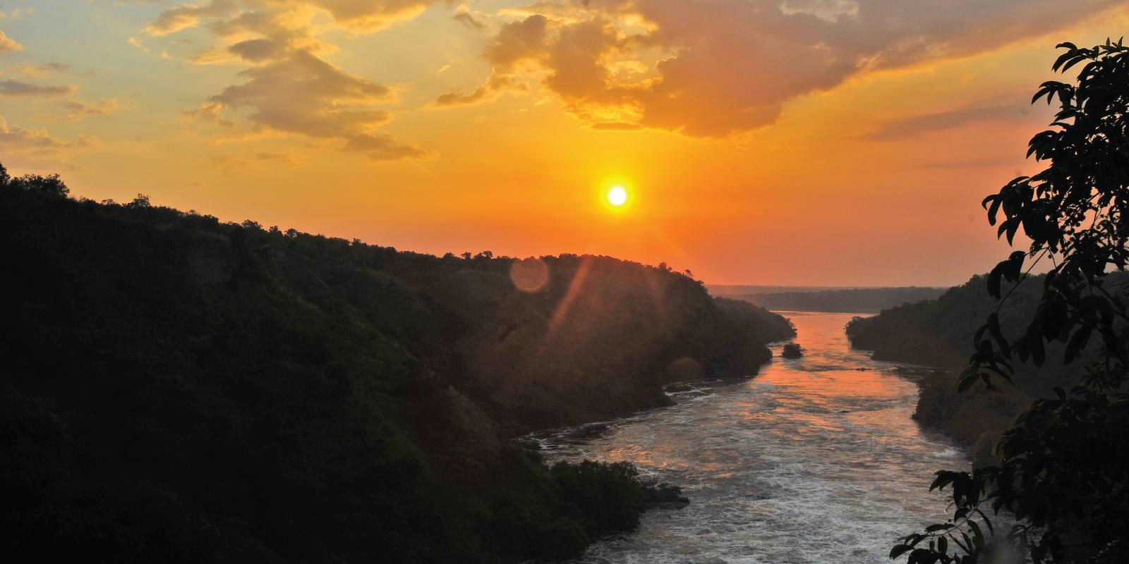 Sunset on Nile River at Murchison Fall - Wild Discoveries Safaris Uganda