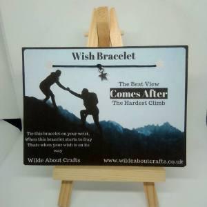 inspirational wish bracelet