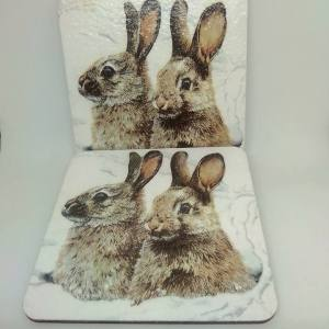 rabbit coasters