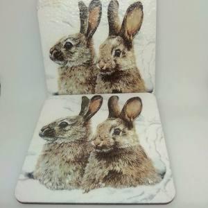rabbit coasters