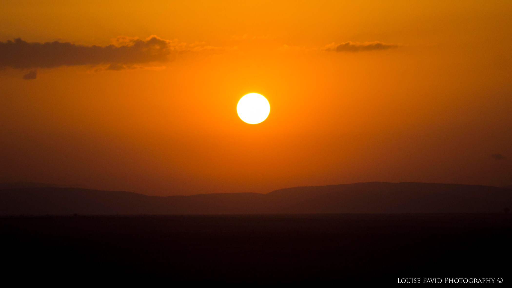 Sunrise over the Maasai Mara