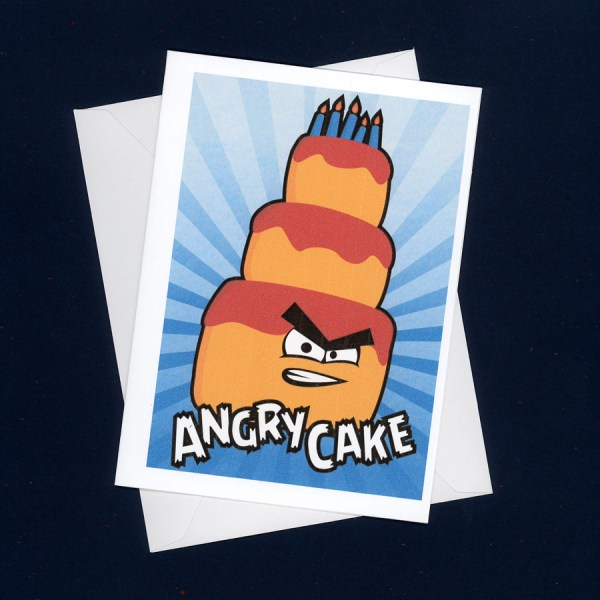 Angry Cake Card by Wilde Designs