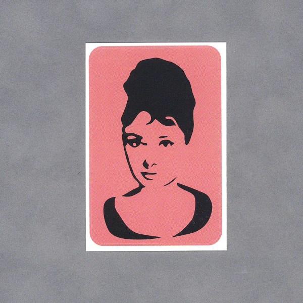 Audrey Hepburn Sticker by Wilde Designs